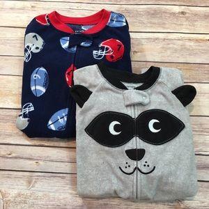 Set of 2 Carter's 3T Fleece Boys Footed Pajama's